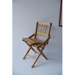Krzesełko dziecięce składane, lata 50.