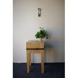 Drewniany pień rzeźniczy Vintage