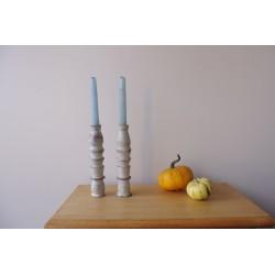 Świecznik drewniany, 2 szt